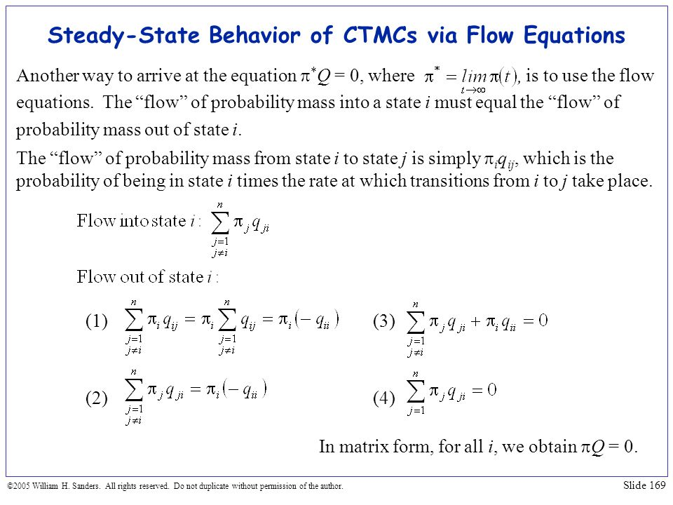 Steady-State Behavior of CTMCs via Flow Equations
