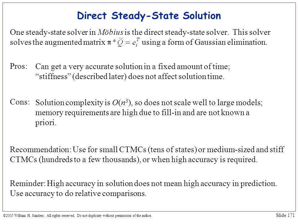 Direct Steady-State Solution