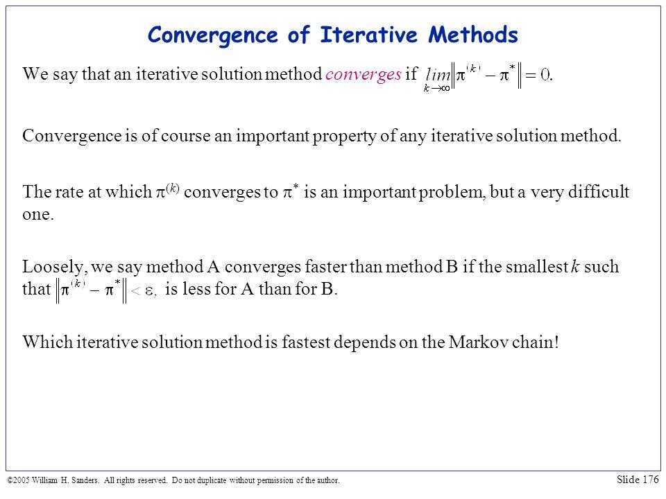 Convergence of Iterative Methods