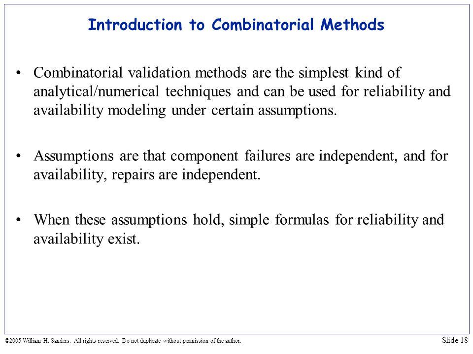 Introduction to Combinatorial Methods