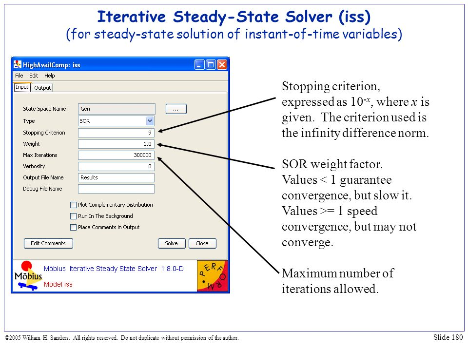 Iterative Steady-State Solver (iss) (for steady-state solution of instant-of-time variables)