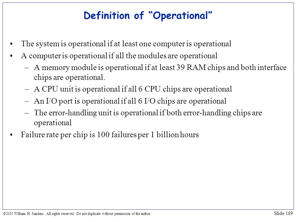 Definition of Operational