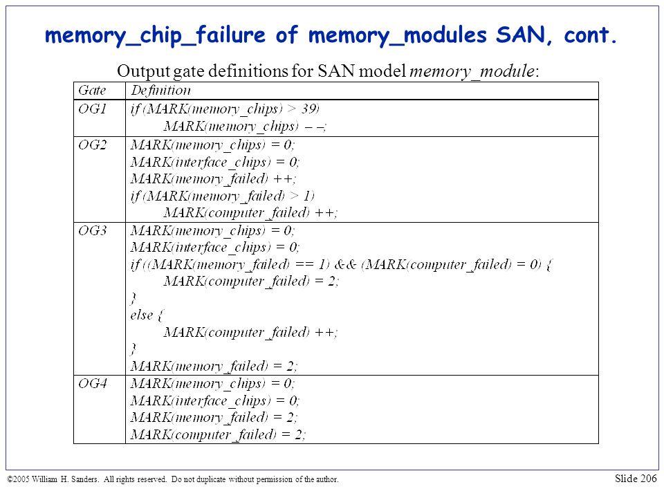 memory_chip_failure of memory_modules SAN, cont.
