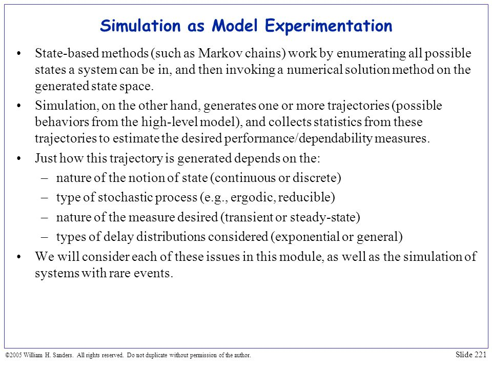 Simulation as Model Experimentation