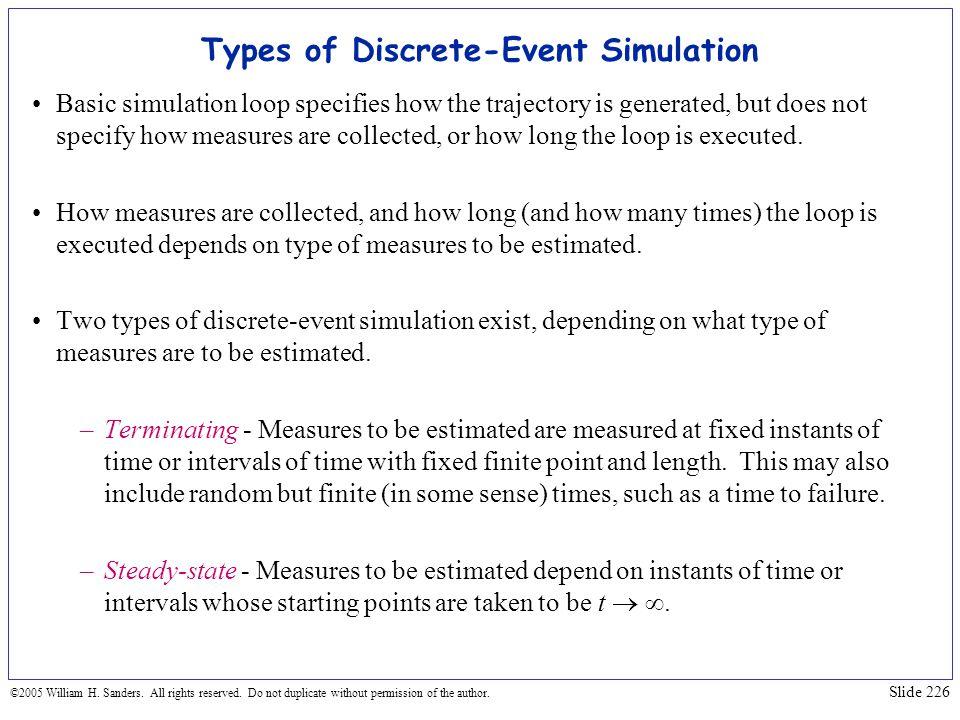 Types of Discrete-Event Simulation