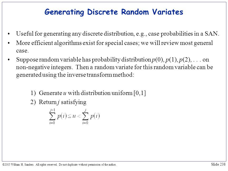 Generating Discrete Random Variates