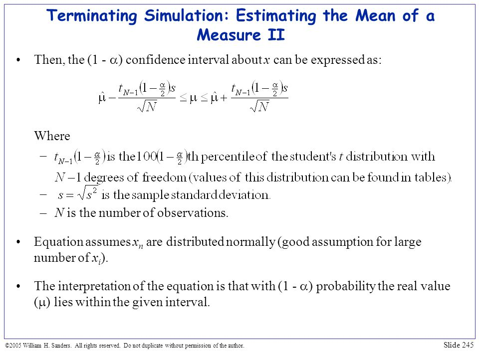 Terminating Simulation: Estimating the Mean of a Measure II