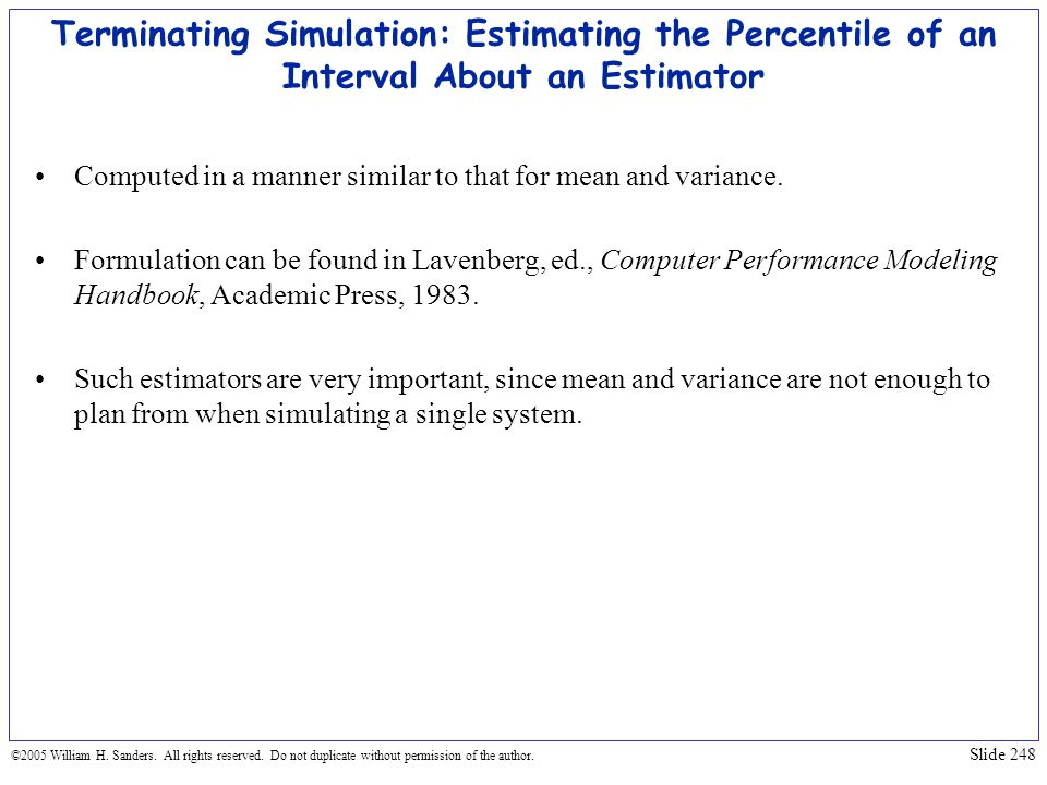 Terminating Simulation: Estimating the Percentile of an Interval About an Estimator