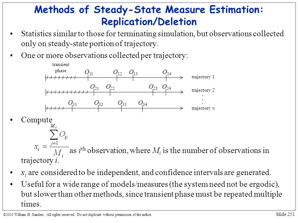 Methods of Steady-State Measure Estimation: Replication/Deletion