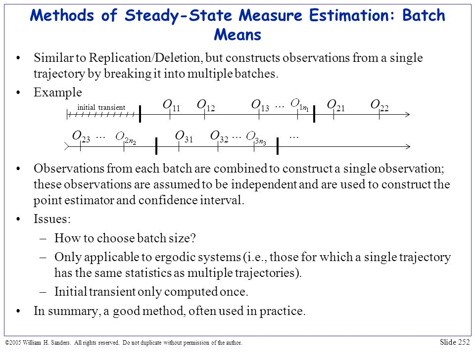 Methods of Steady-State Measure Estimation: Batch Means