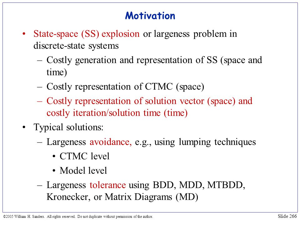 Costly generation and representation of SS (space and time)