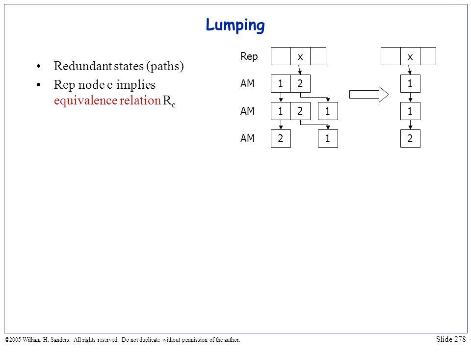 Lumping Redundant states (paths)