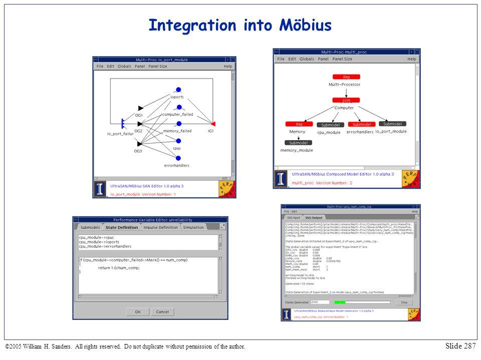Integration into Möbius