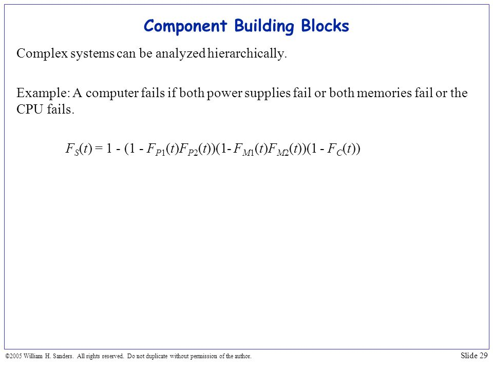 Component Building Blocks