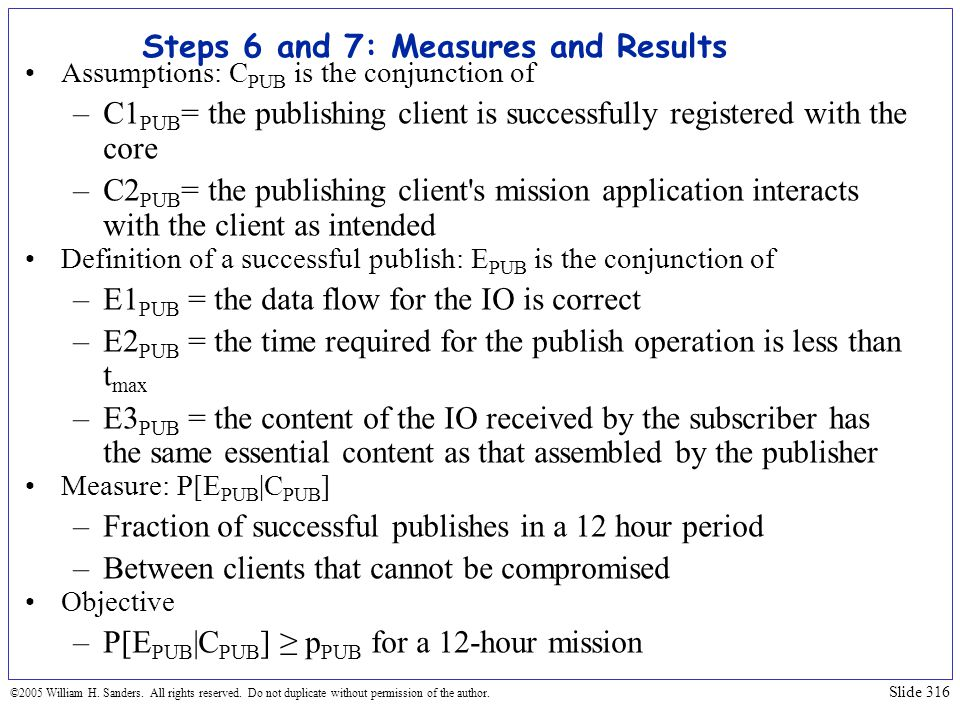 Steps 6 and 7: Measures and Results
