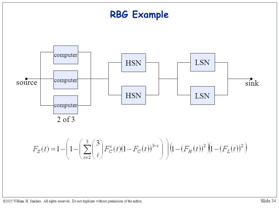 RBG Example HSN LSN source sink HSN LSN 2 of 3 computer computer