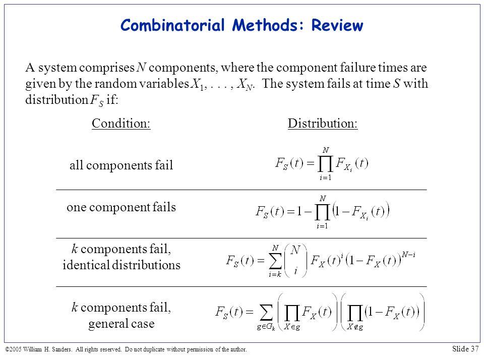 Combinatorial Methods: Review