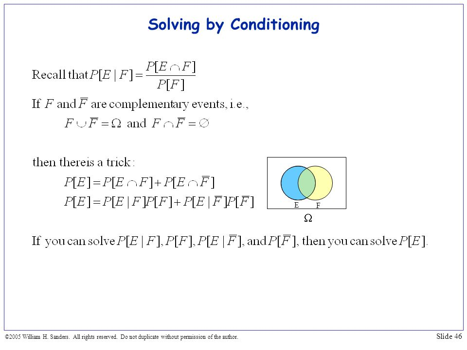 Solving by Conditioning