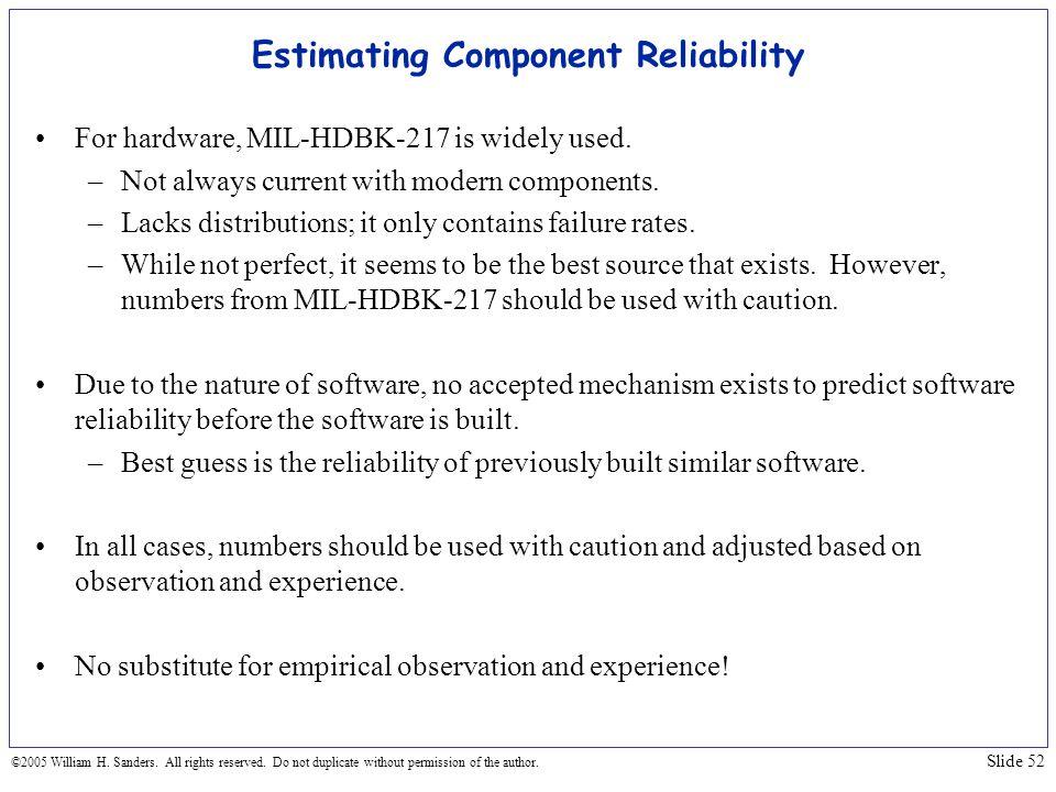 Estimating Component Reliability