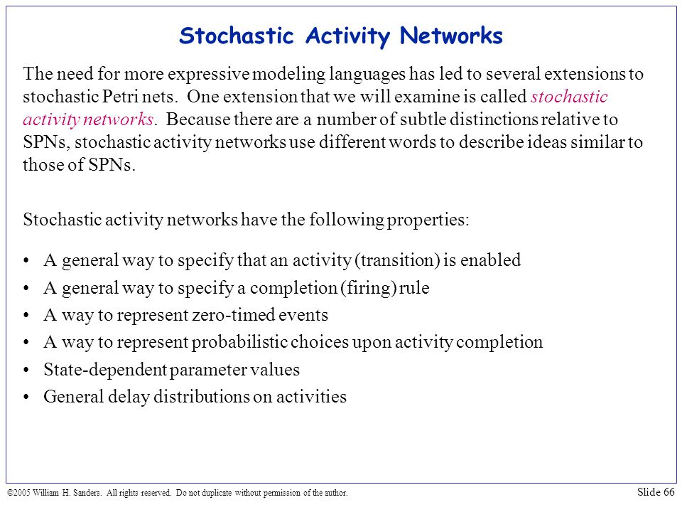 Stochastic Activity Networks