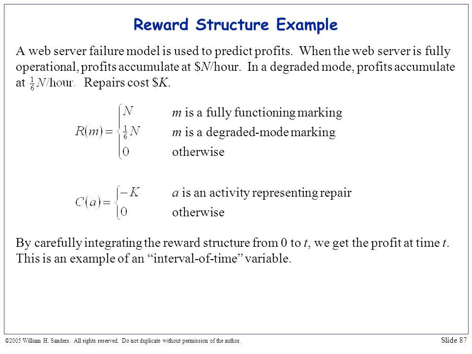Reward Structure Example