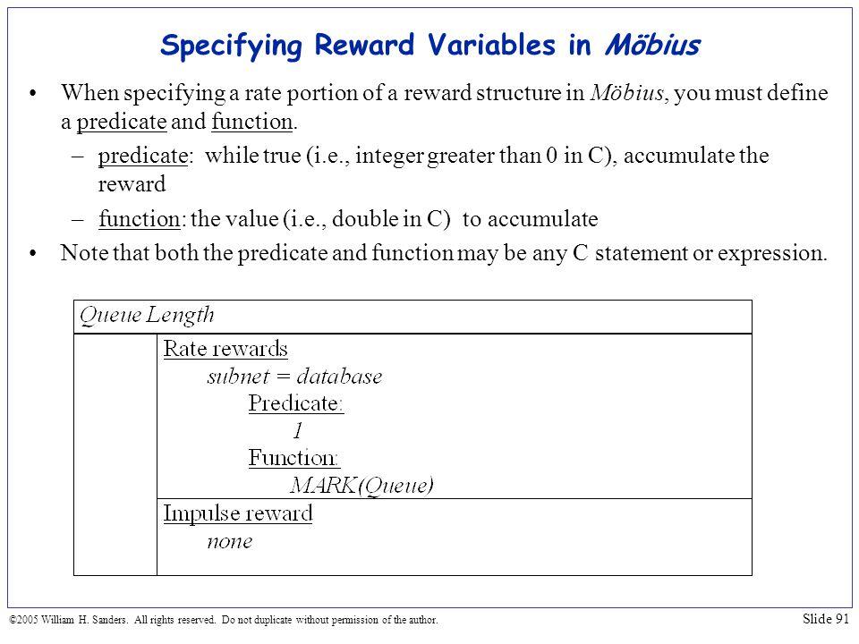 Specifying Reward Variables in Möbius