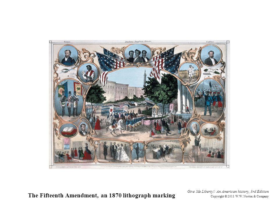 The Fifteenth Amendment, an 1870 lithograph marking