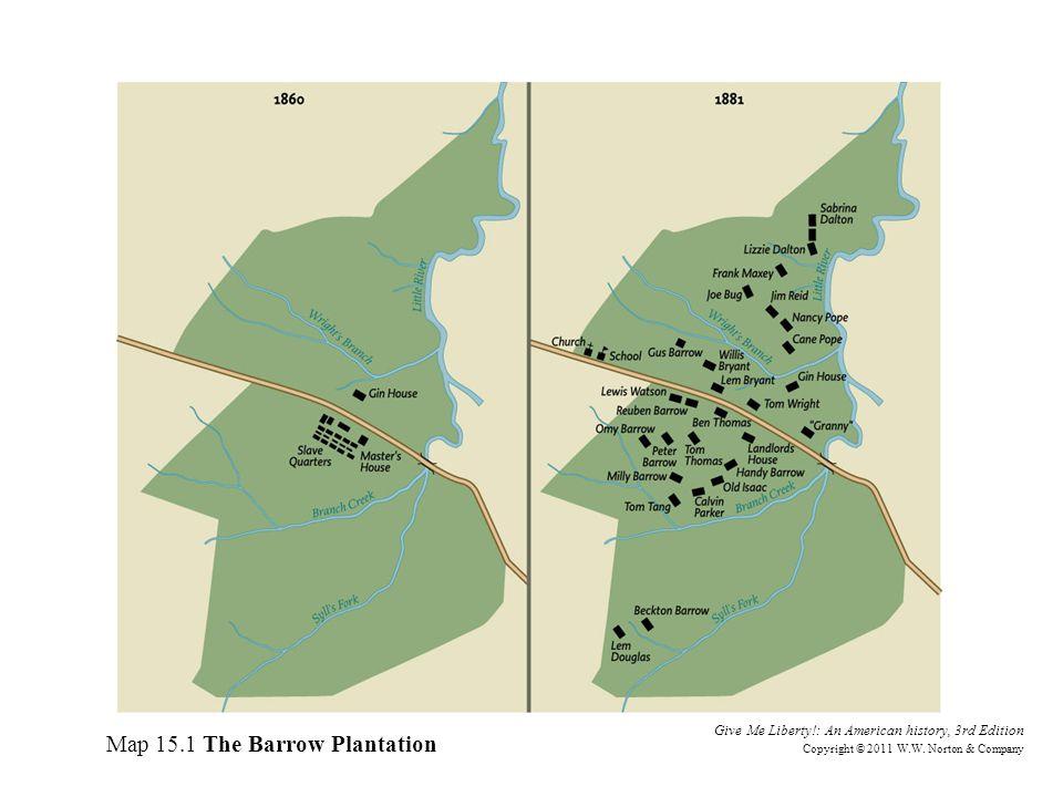 Map 15.1 The Barrow Plantation