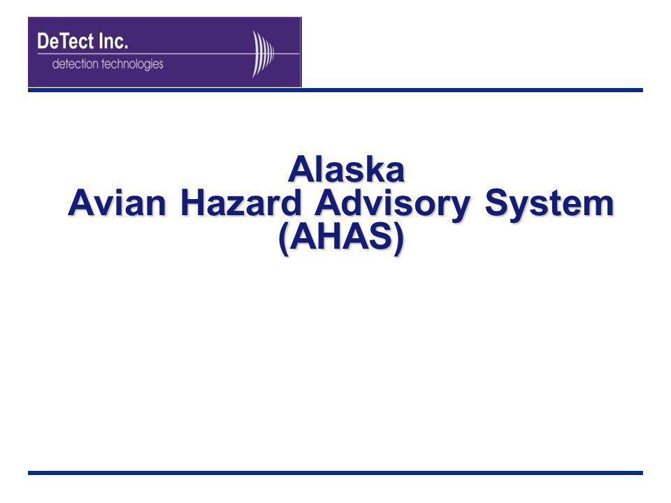 Alaska Avian Hazard Advisory System (AHAS)