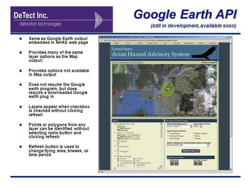 Google Earth API (still in development, available soon)