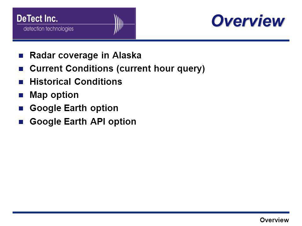 Overview Radar coverage in Alaska
