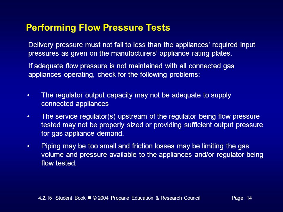 Performing Flow Pressure Tests