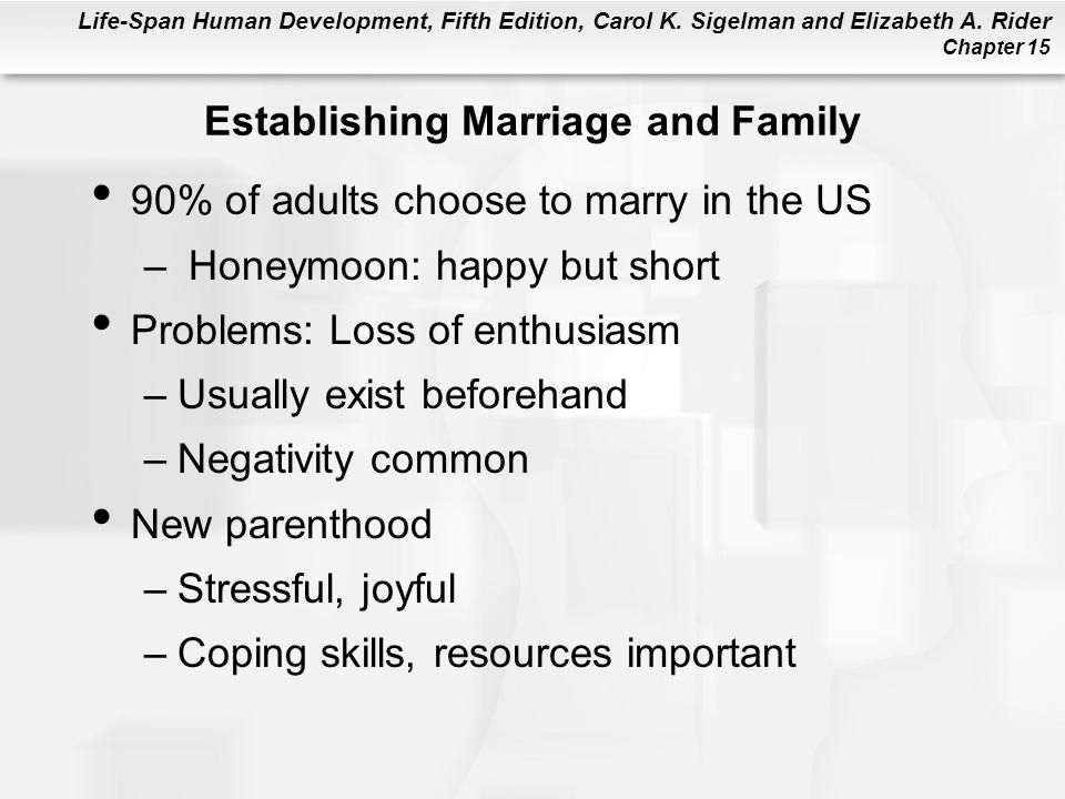 Establishing Marriage and Family