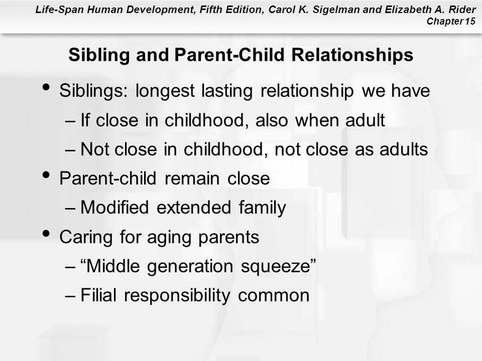 Sibling and Parent-Child Relationships