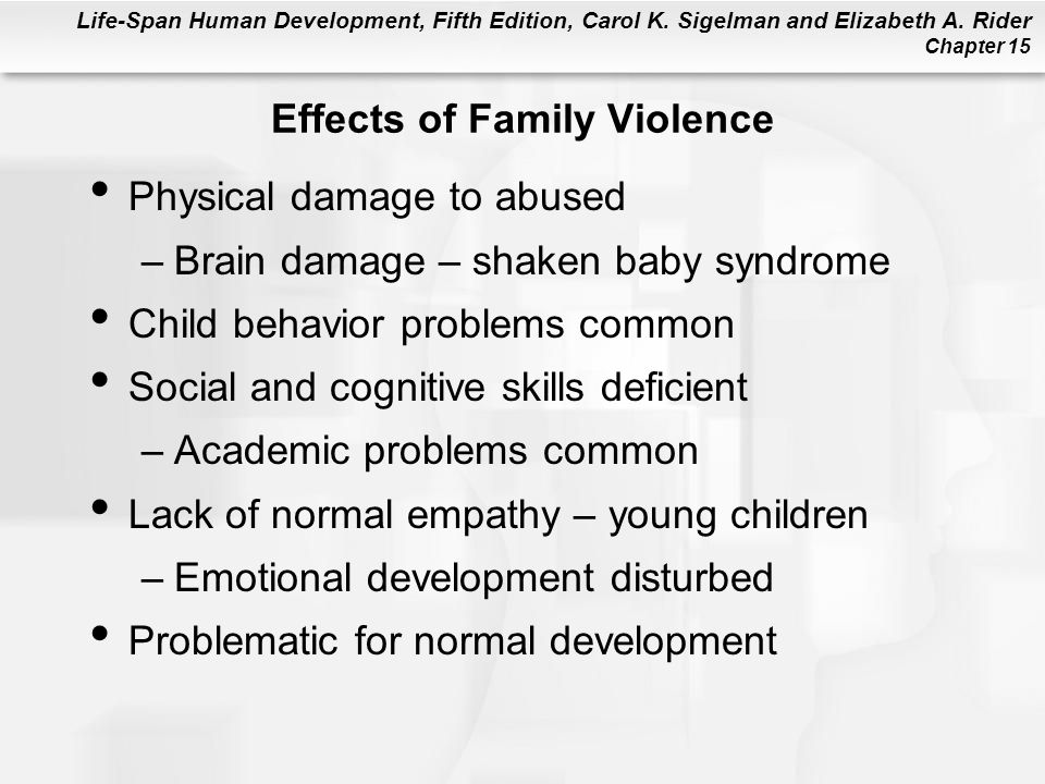 Effects of Family Violence