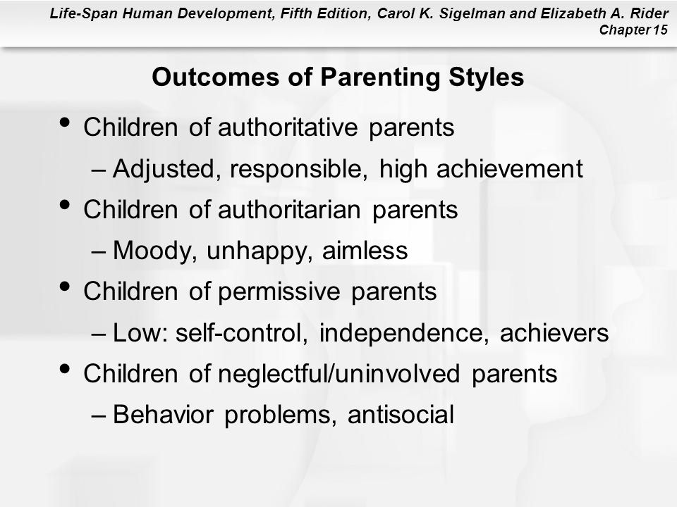 Outcomes of Parenting Styles