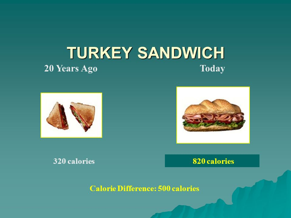 Calorie Difference: 500 calories