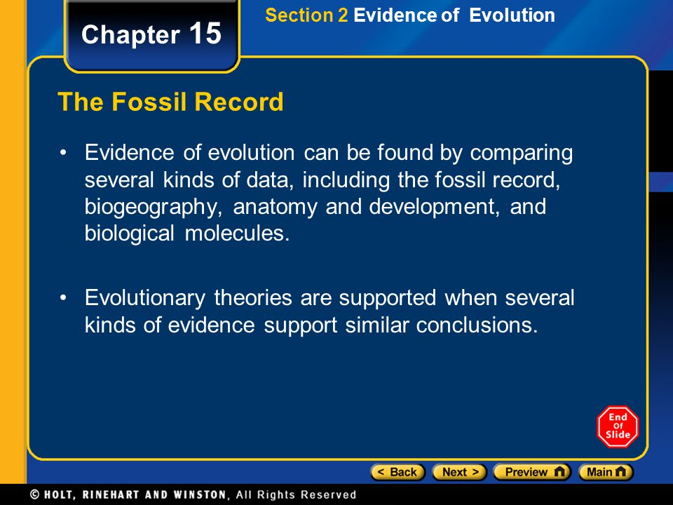 Chapter 15 The Fossil Record