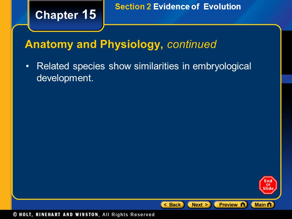 Anatomy and Physiology, continued