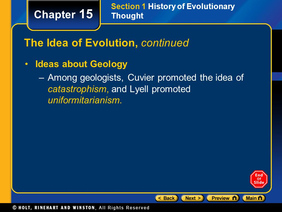 The Idea of Evolution, continued