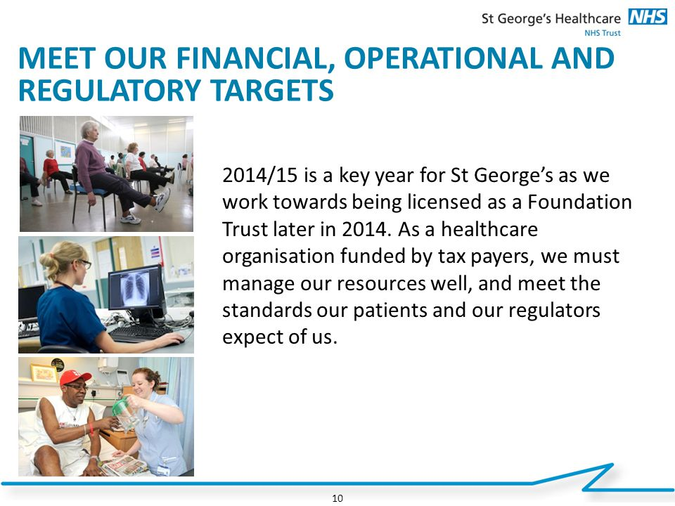 MEET OUR FINANCIAL, OPERATIONAL AND REGULATORY TARGETS