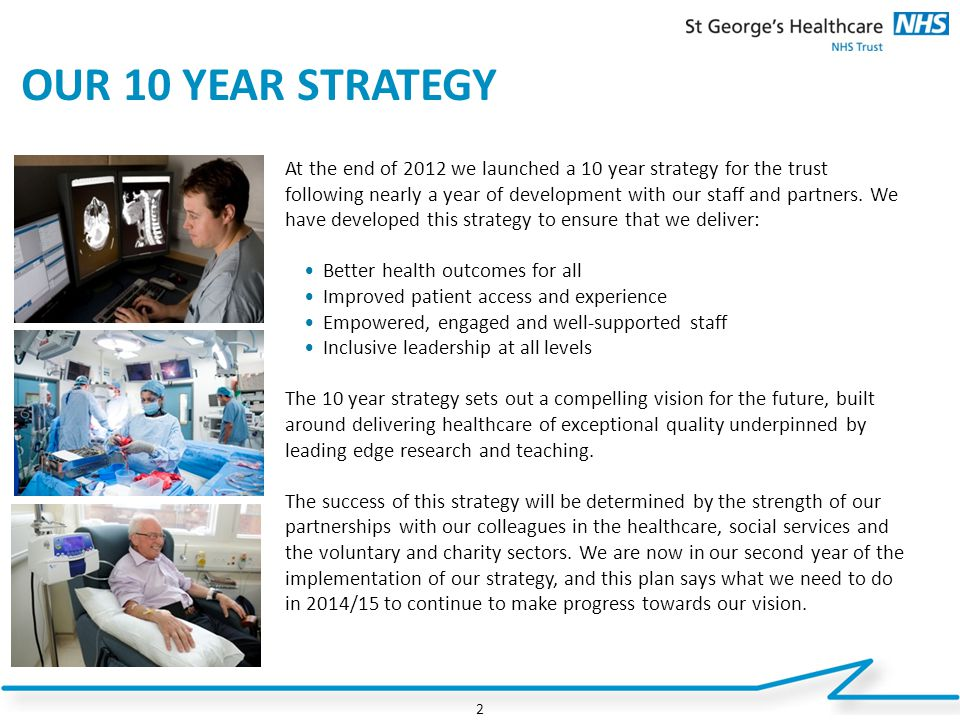 OUR 10 YEAR STRATEGY