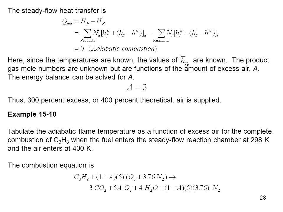The steady-flow heat transfer is