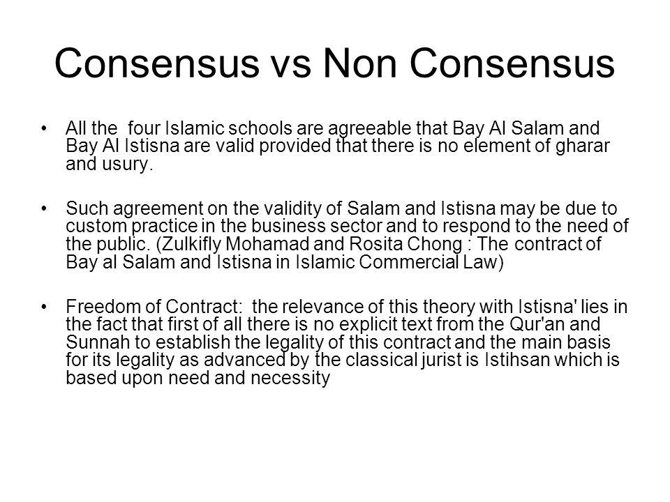 Consensus vs Non Consensus