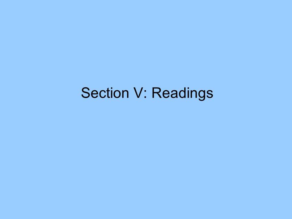 Section V: Readings