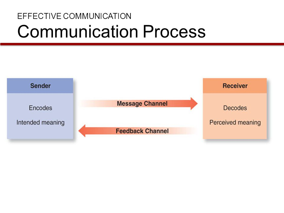 EFFECTIVE COMMUNICATION Communication Process