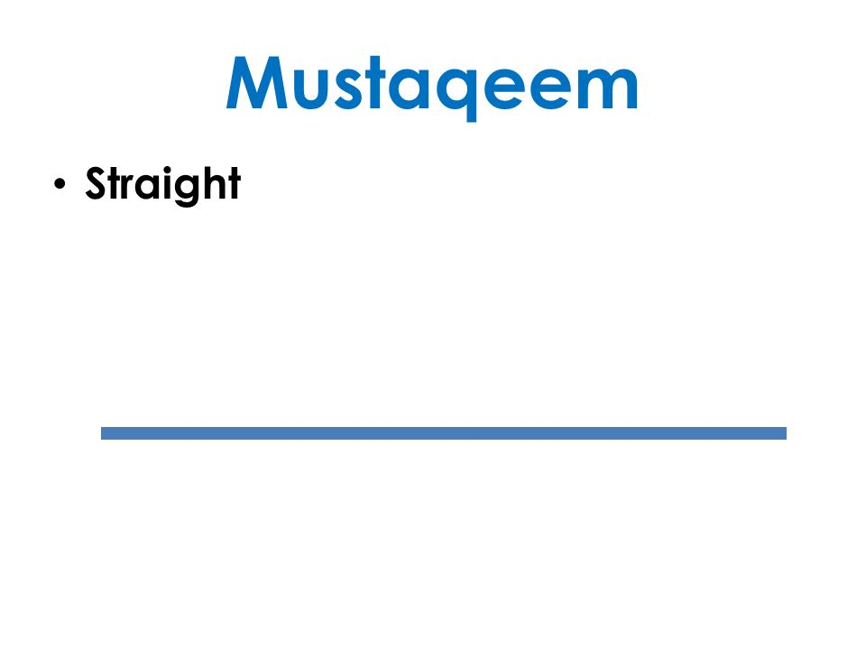 Mustaqeem Straight