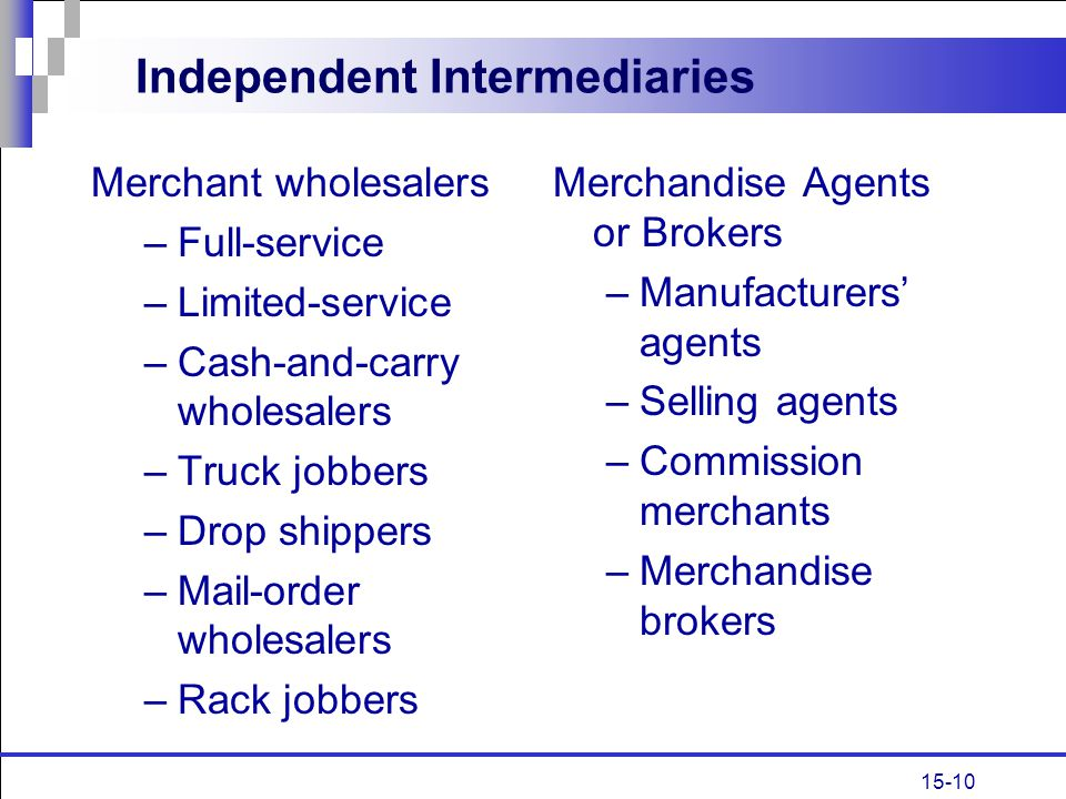 Independent Intermediaries