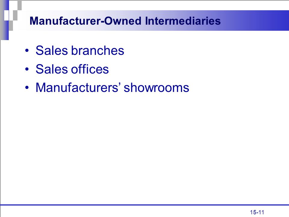Manufacturer-Owned Intermediaries