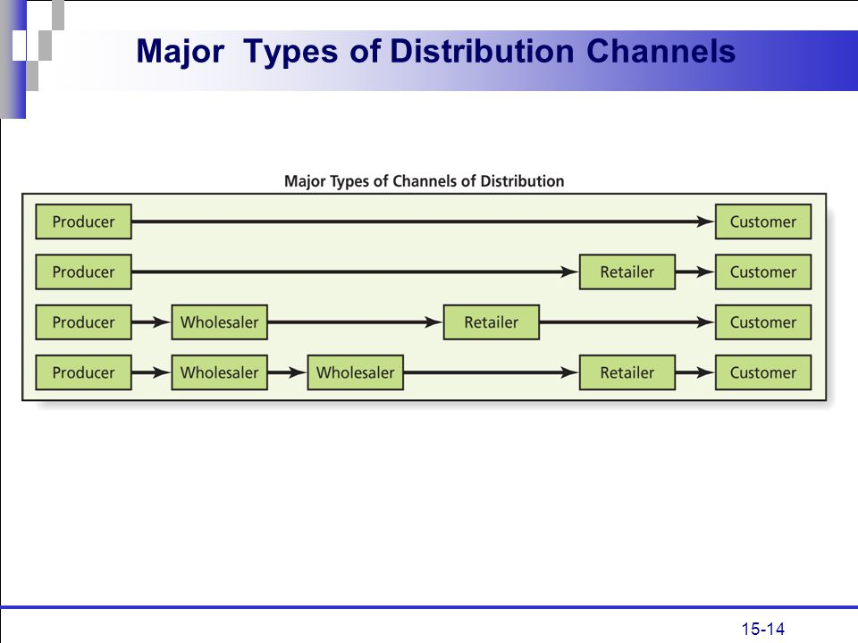 Major Types of Distribution Channels